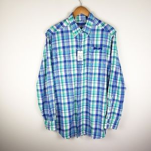 Southern Tide Vented Outdoor Button Up Shirt Plaid